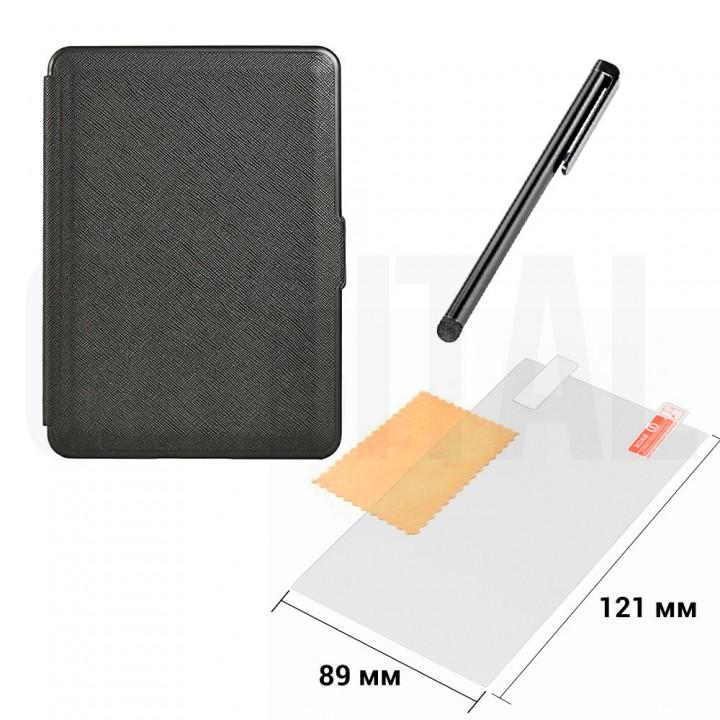 Обложка, чехол PocketBook PKBK 627 Black для PocketBook 616/627/632 + Стилус + Защитная пленка