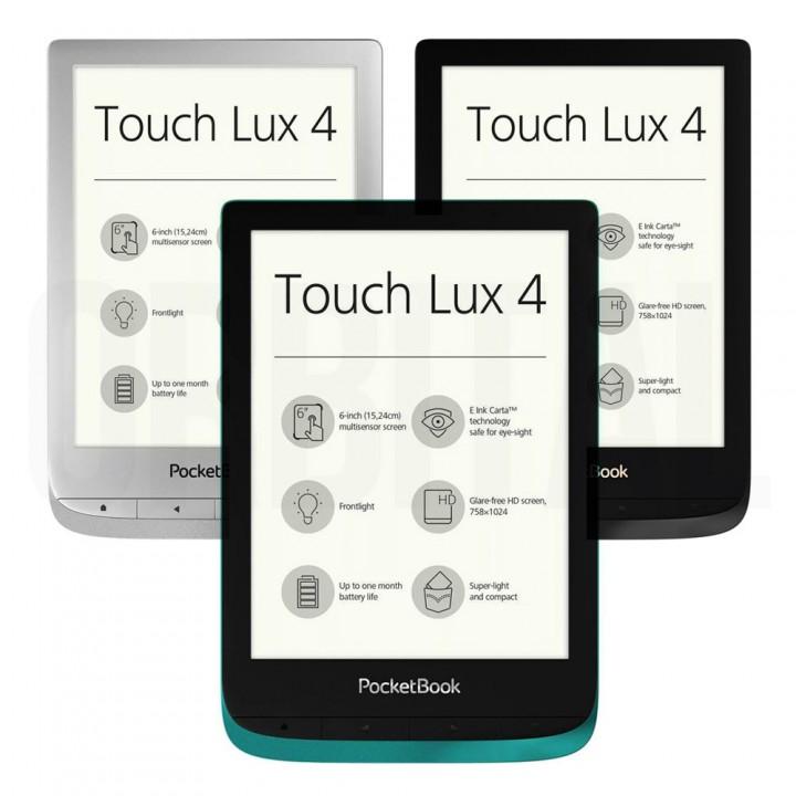 Электронная книга (ридер) PocketBook 627 Touch Lux 4 (черная, серебристая, изумрудная)