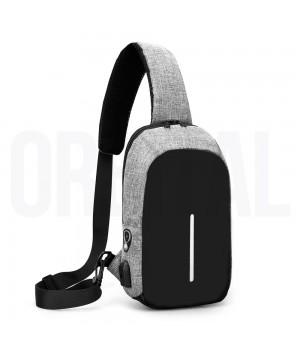 Рюкзак Anti-Theft HX с USB-портом Grey