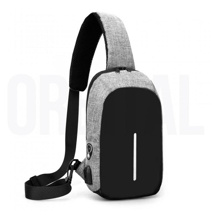 Рюкзак Антивор Anti-Theft HX с USB-портом Grey