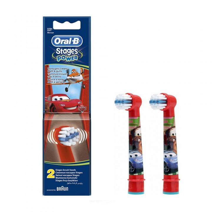 Сменные насадки для детской зубной щетки Braun Oral-B Stages Power Cars EB-10 (2шт.)