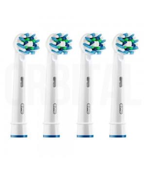 Насадки CrossAction для электрической зубной щетки Braun Oral-B (4 шт.)
