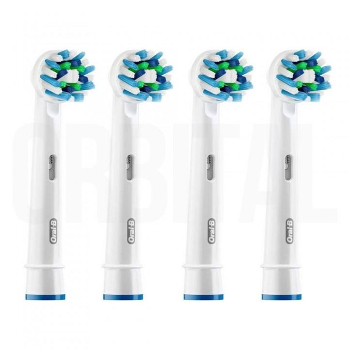 Сменные насадки CrossAction для электрической зубной щетки Braun Oral-B (4 шт.)