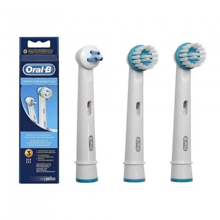Сменные насадки Оrtho Сare Еssentials для зубной щетки Braun Oral-B (3 шт.)