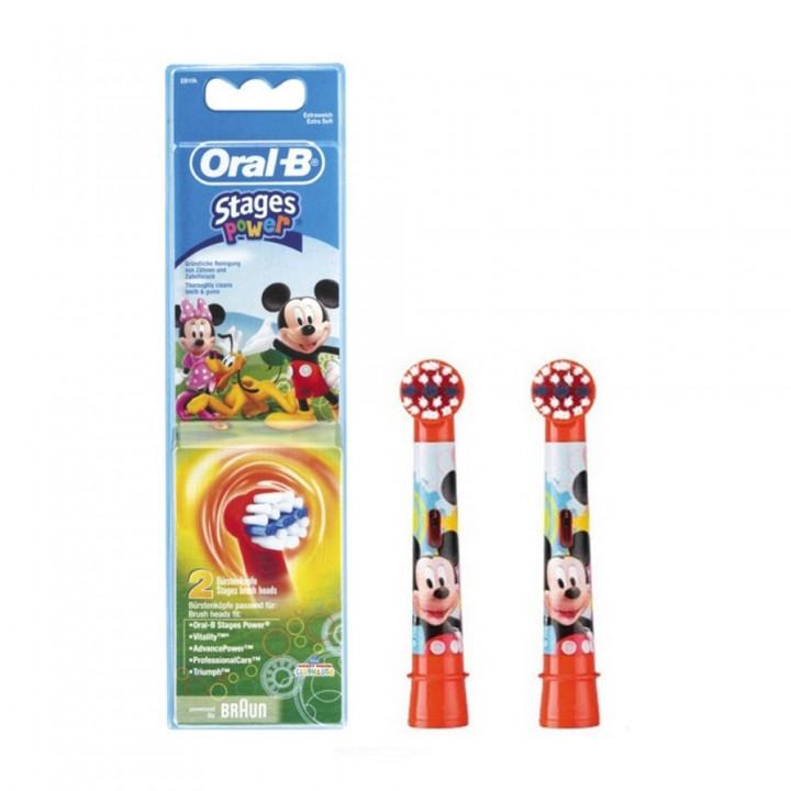 Сменные насадки Stages Power Mickey Mouse для детской зубной щетки Braun Oral-B (2шт.)
