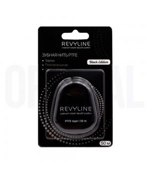 Зубная нить вощеная Revyline PTFE Black Edition, мятная, 50 м