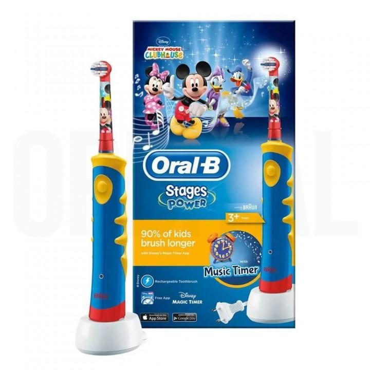 Детская электрическая зубная щетка Braun Oral-B Kids Power Toothbrush Mickey Mouse D10.513