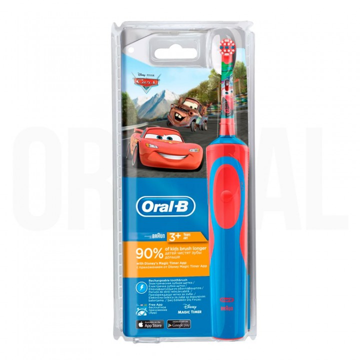 Детская электрическая зубная щетка Braun Oral-B Vitality Kids Cars D12.513.K