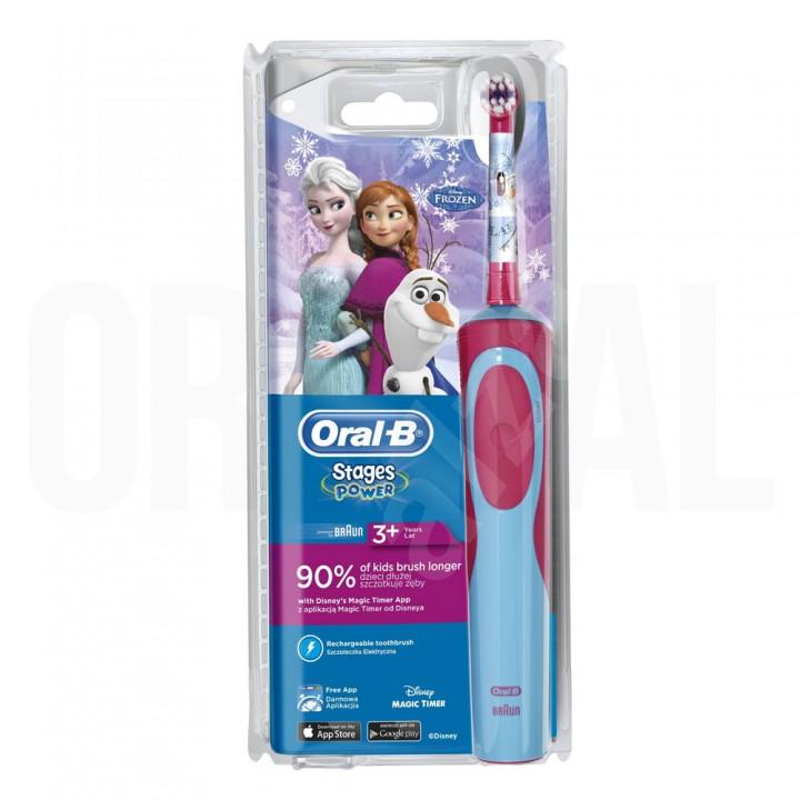Детская электрическая зубная щетка Braun Oral-B Vitality Kids Frozen D12.513.K