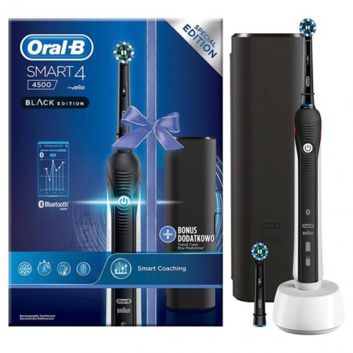 Электрическая зубная щетка Braun Oral-B Smart Series 4500 Black Edition (D.601.525.3X)